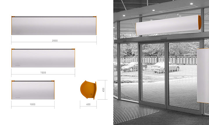 detail residential air curtain product buy