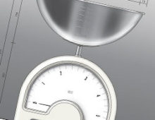 Wet and dry kitchen scale